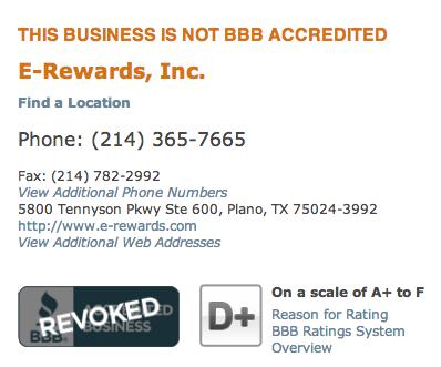 E-Rewards BBB Profile